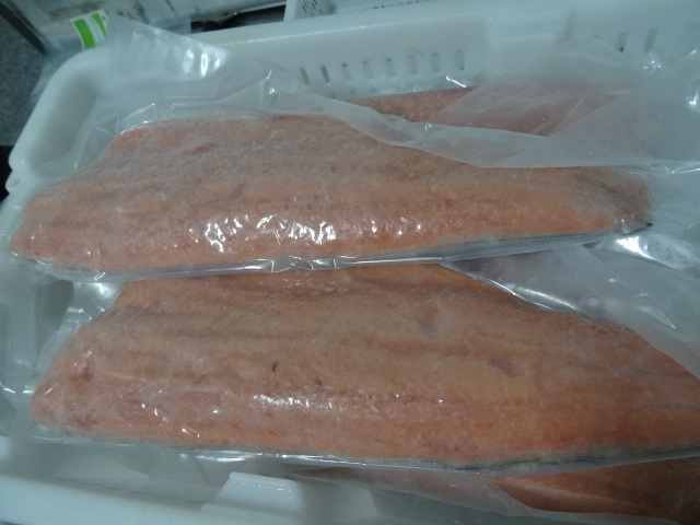 vacuum sealed Chum Salmon Fillet
