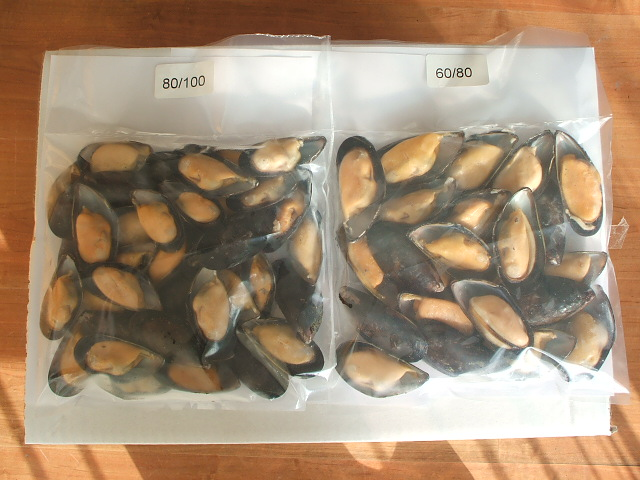 vacuum sealed Mussels